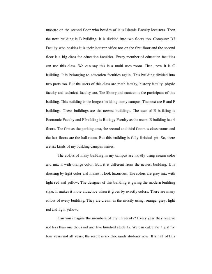Does this make a good descriptive essay?