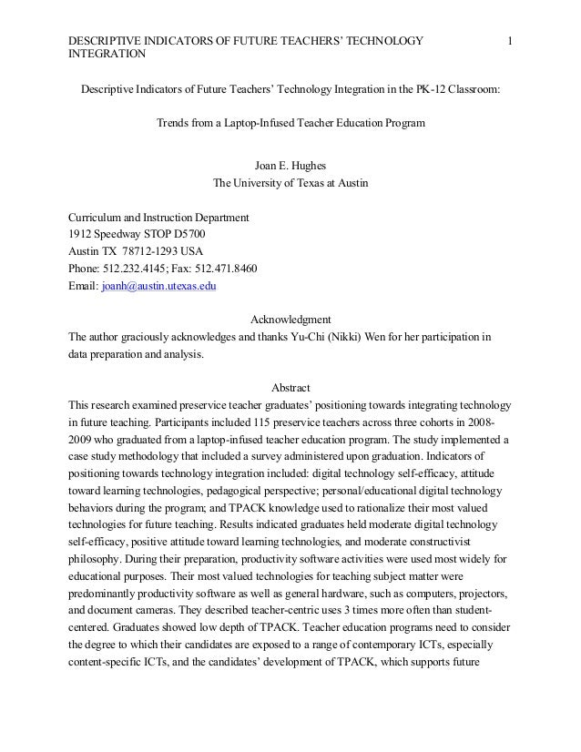 Descriptive Indicators of Future Teachers' Technology Integration in the PK-12 Classroom: Trends from a Laptop-Infused Teacher Education Program