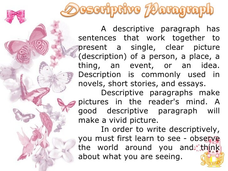 Descriptive essay on a person