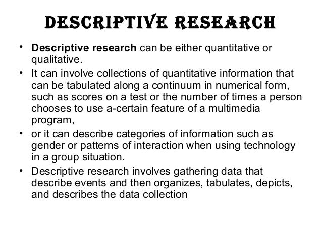 Difference Between Descriptive and Experimental Research
