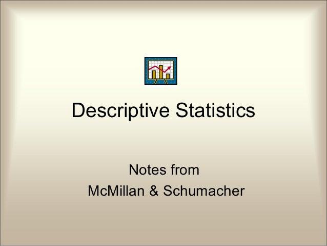Descriptivestatistics