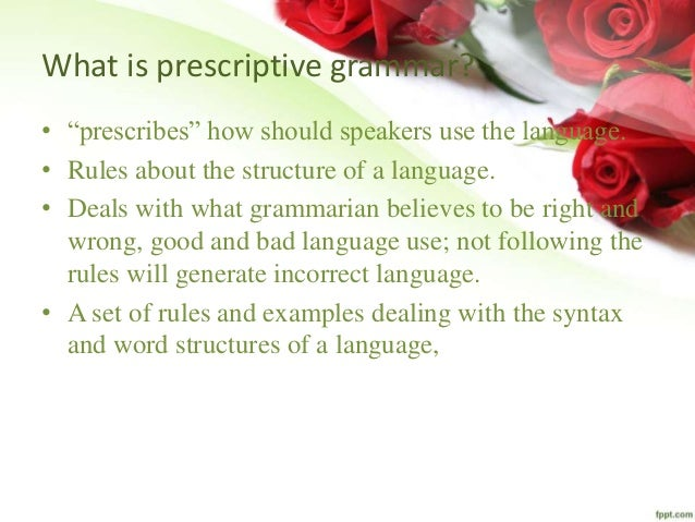 prescriptive vs descriptive essay Test your knowledge of prescriptive and descriptive grammar with this interactive quiz and printable worksheet these practice questions will allow.