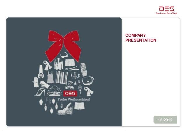 Deutsche EuroShop | Company Presentation | 12/12