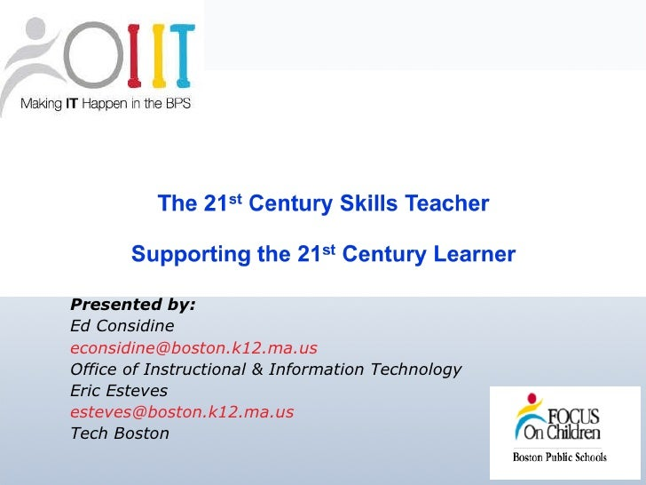 21st CenturyTeaching and Learning