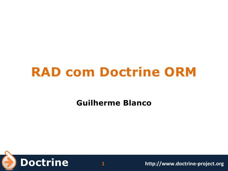 RAD com Doctrine ORM Guilherme Blanco