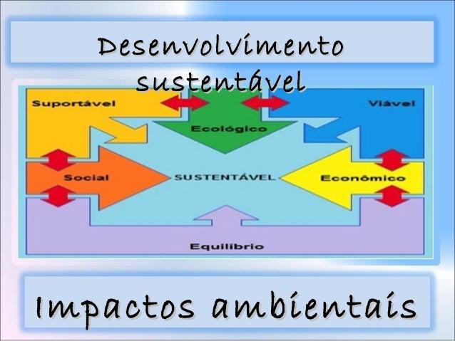 Desenvolvimento sustentável e impactos ambientais