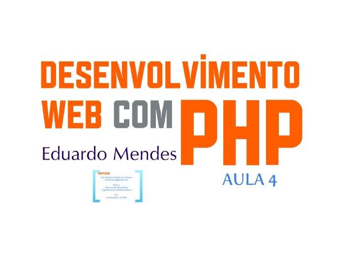 Desenvolvimento Web com PHP parte 7