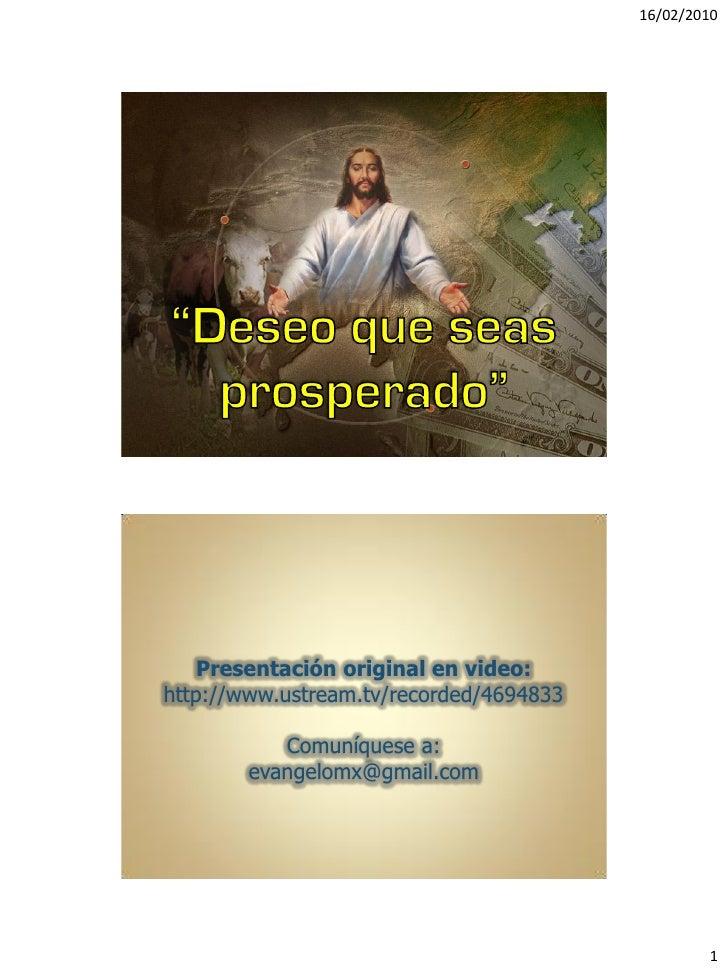 16/02/2010         Presentación original en video: http://www.ustream.tv/recorded/4694833             Comuníquese a:      ...