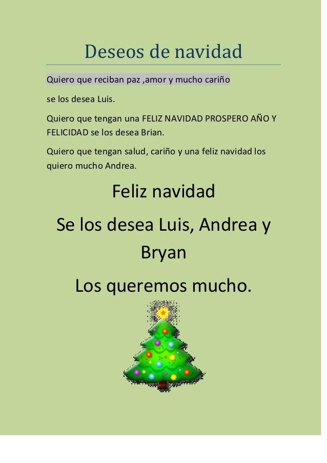 Deseos de navidad luis andrea y bryan - Deseos de feliz navidad ...