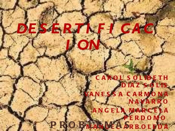 Desertificaion de suelos