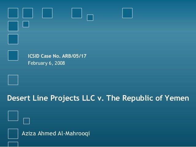 Desert line case