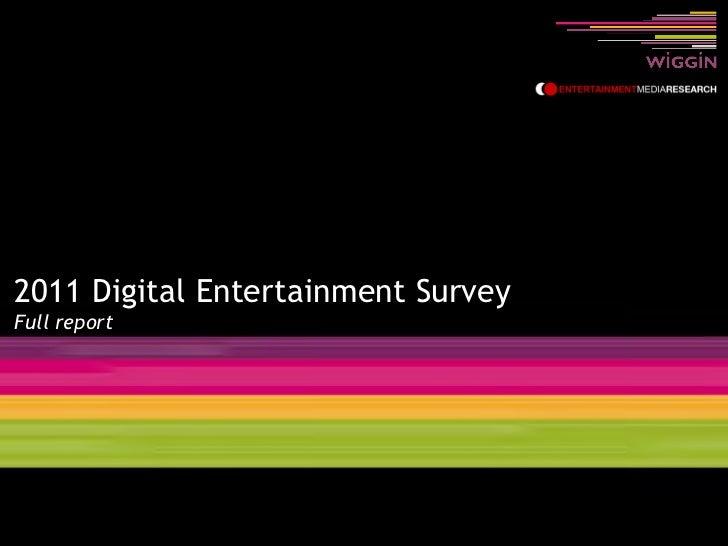 Digital Entertainment Survey 2011