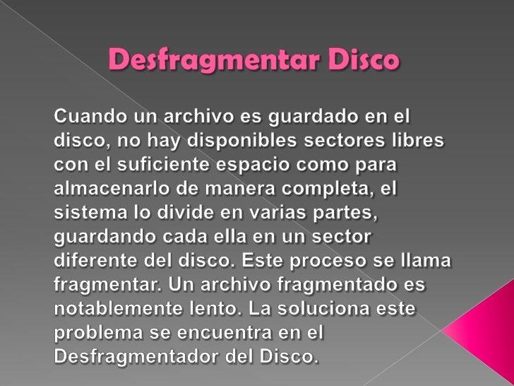 Desfragmentar Disco