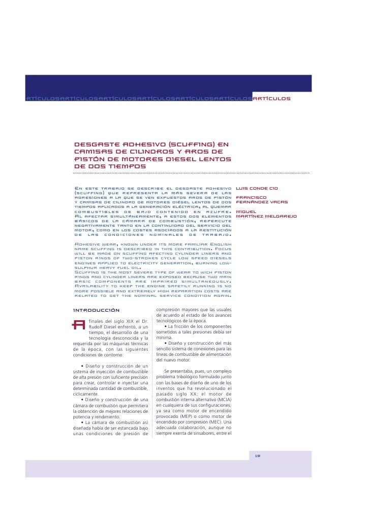 RTÍCULOSARTÍCULOSARTÍCULOSARTÍCULOSARTÍCULOSARTÍCULOSARTÍCULOS                DESGASTE ADHESIVO (SCUFFING) EN            C...