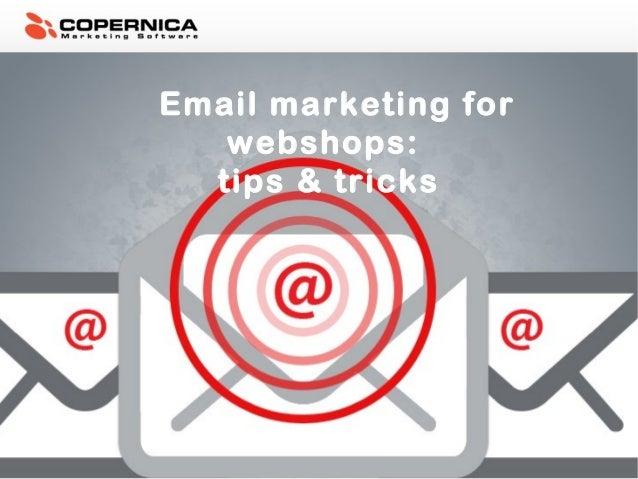 Email marketing for webshops: tips & tricks