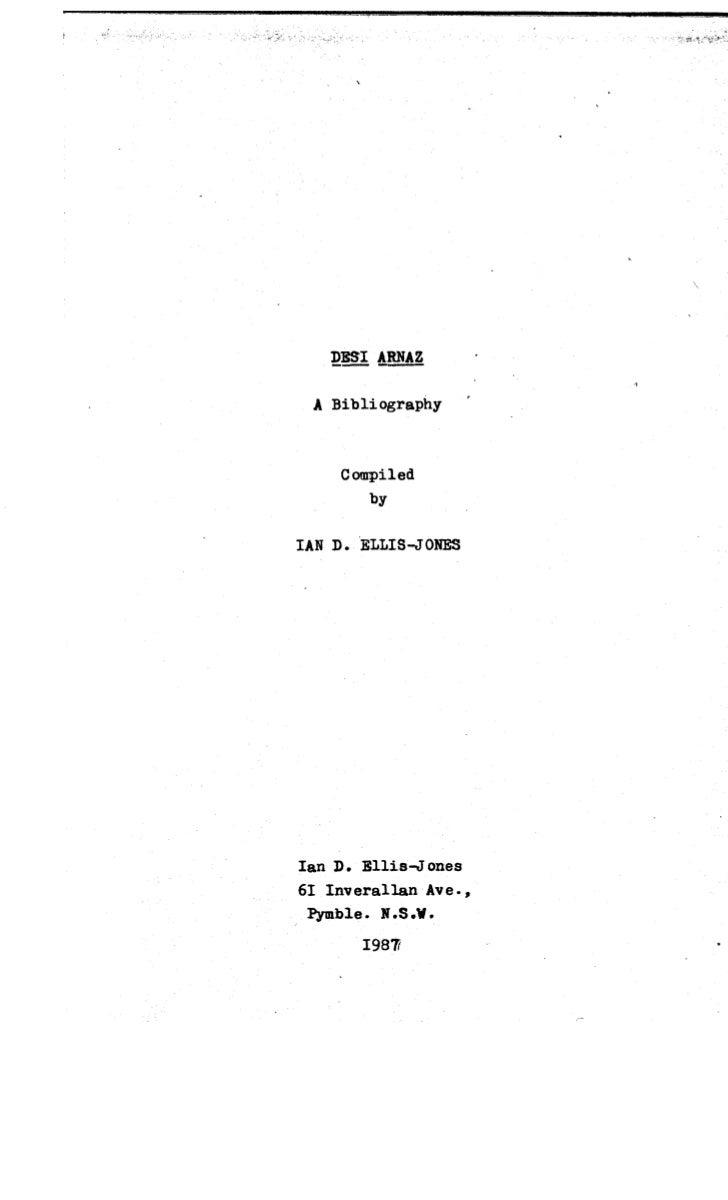 DESI ARNAZ: A BIBLIOGRAPHY