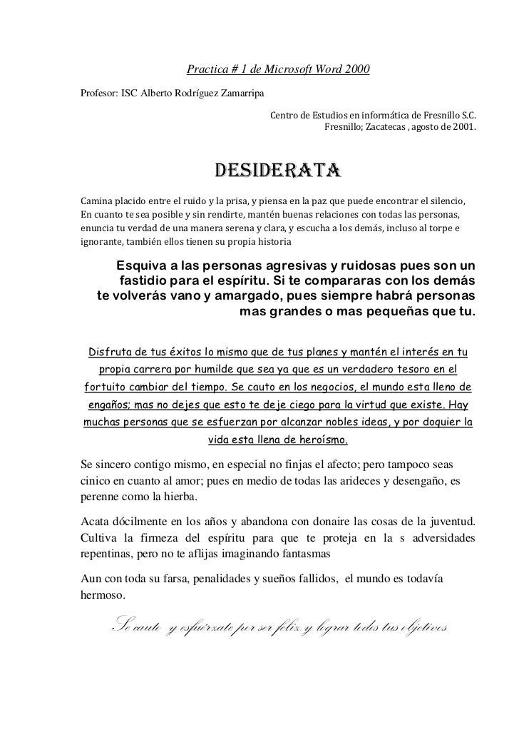 tiempo - MENSAJES ESPIRITUALES Desiderata-1-728