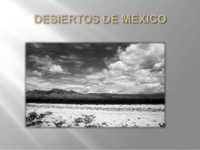 El desierto ocupa aproximadamente el 40% de la superficie del país siendo, por consiguiente, el más vasto de todos los tip...