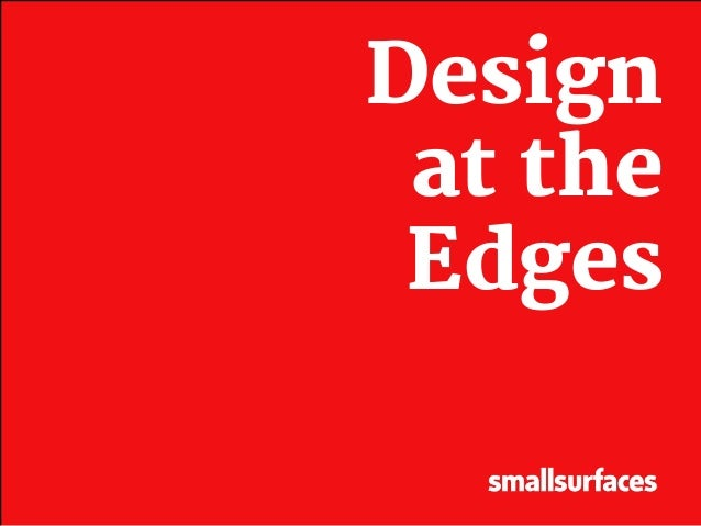 Design at the Edges - UX Design for Developing Countries