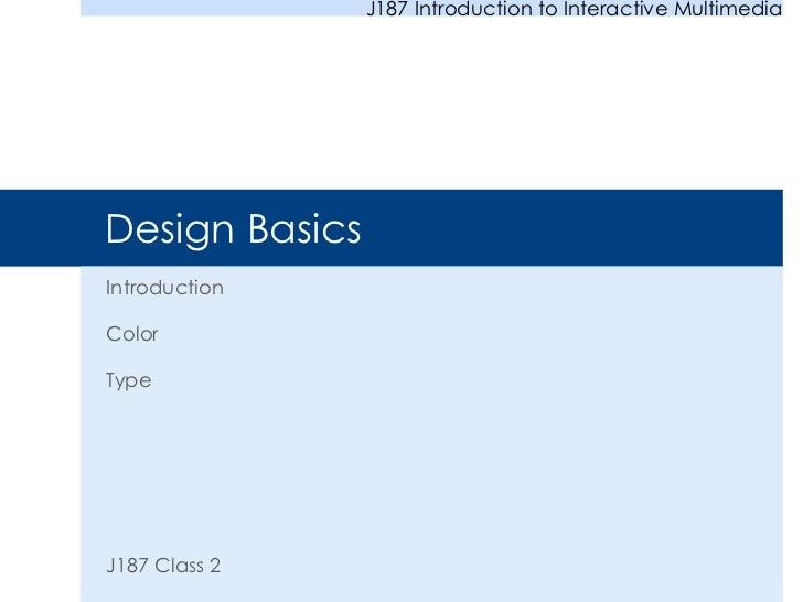 IMM: Design Basics and Color