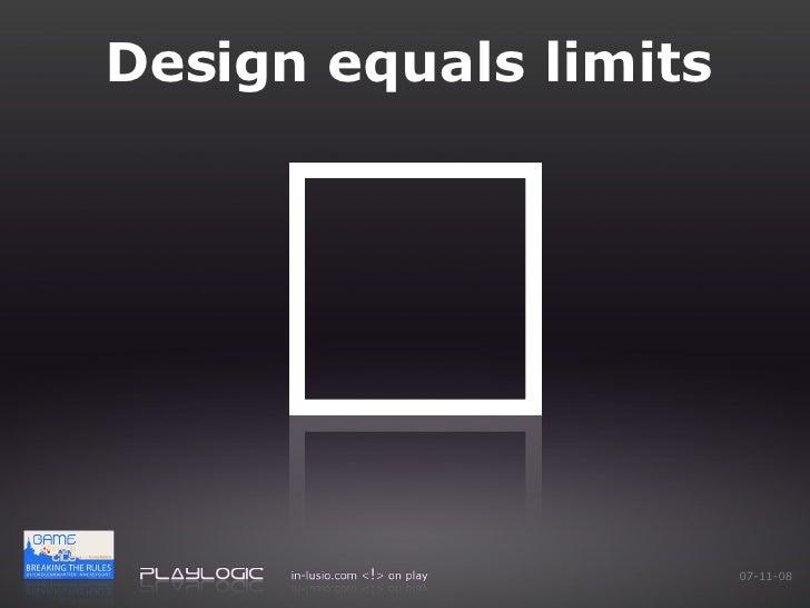 Design equals limits 06-06-09