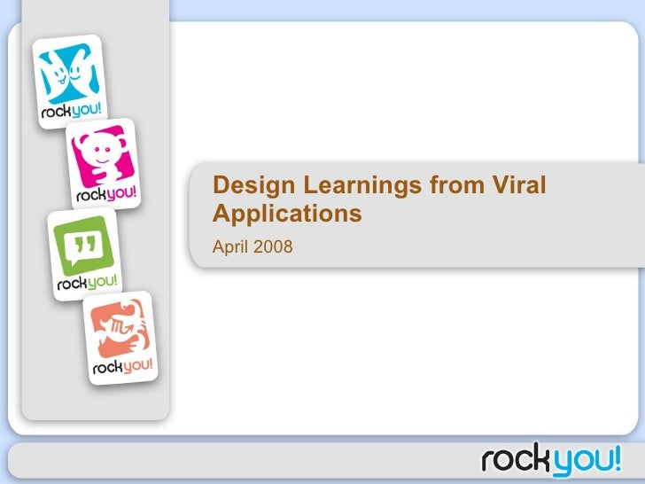 Design Learnings From Viral Applications Presentation
