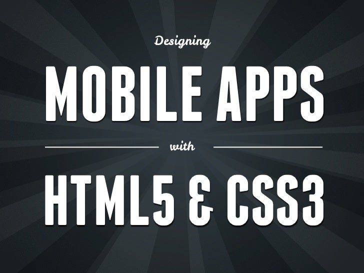 Design mobile-apps-htm5-css3-2012
