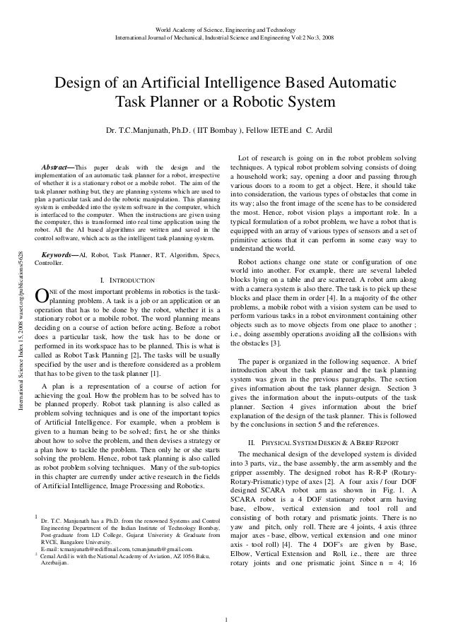 Design of-an-artificial-intelligence-based-automatic-task-planner-or-a-robotic-system