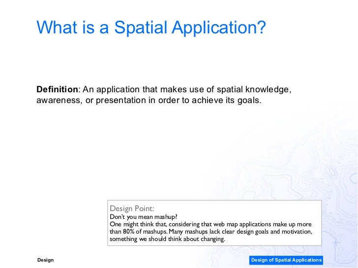 Spatial organization descriptive essay