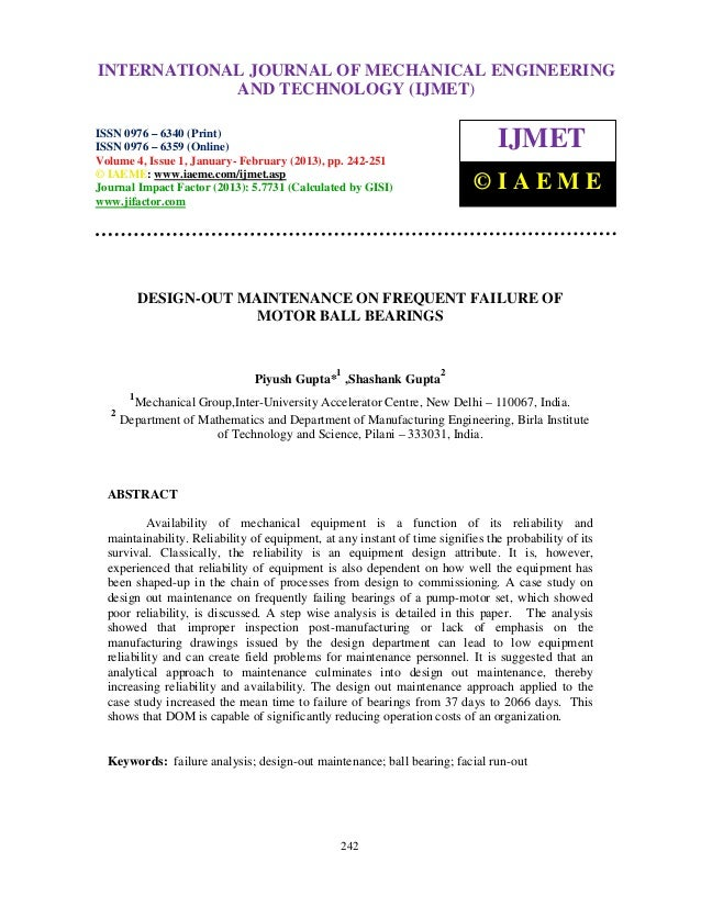 Design out maintenance on frequent failure of motor ball bearings-2-3