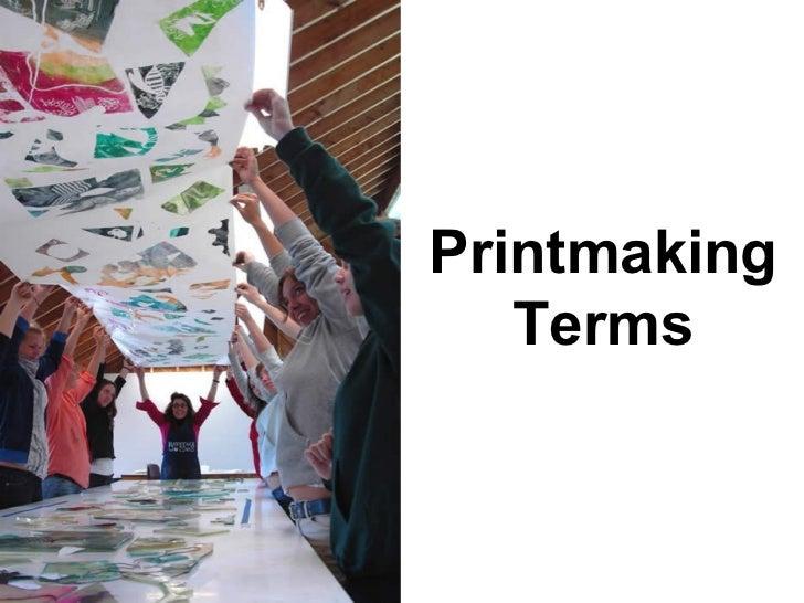 Design printmaking terms pics