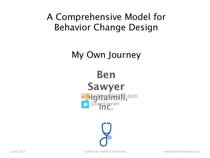 A Comprehensive Model for Behavior Change Game Design: My Own Design Journey