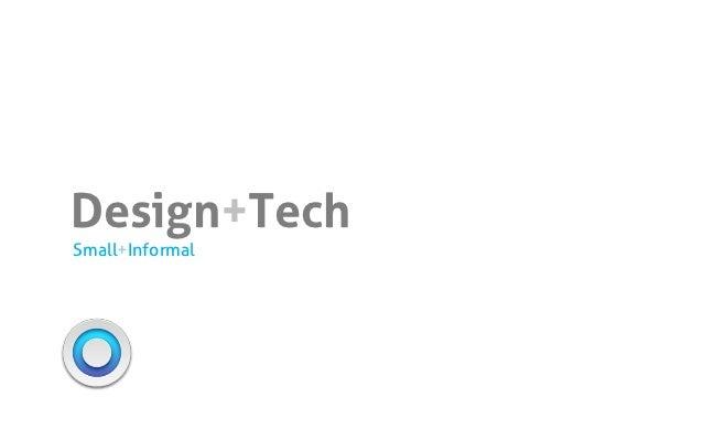 Small/Informal Design/Tech Talk
