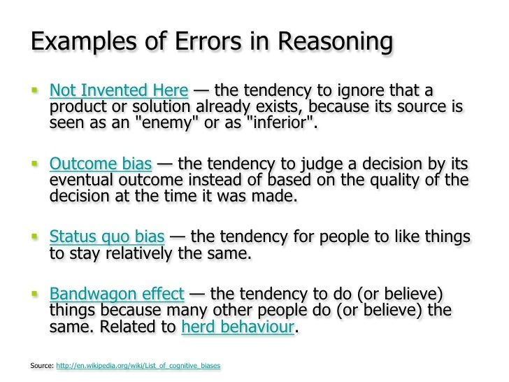 Examples of Errors in