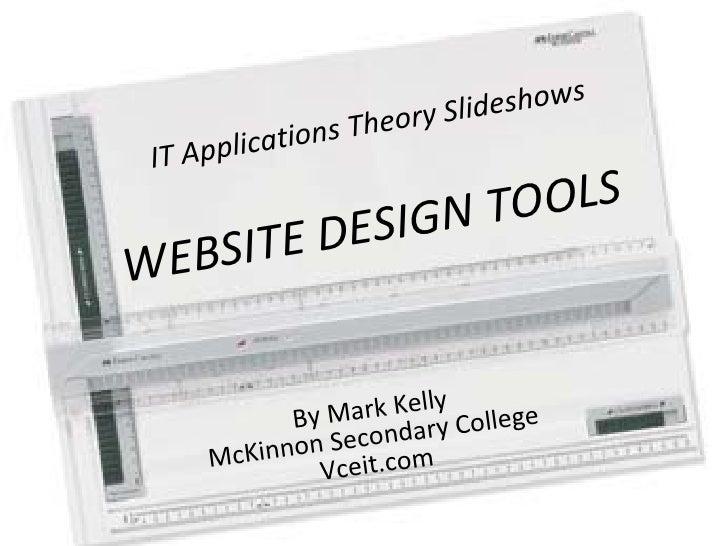 Design Tools - Website