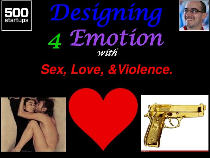 Designing 4 Emotion     withSex, Love, &Violence.