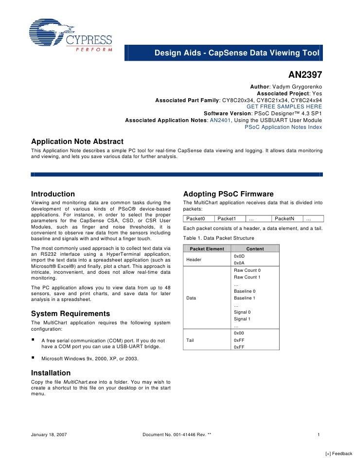 CapSense Data Viewing Tool - Design Aids