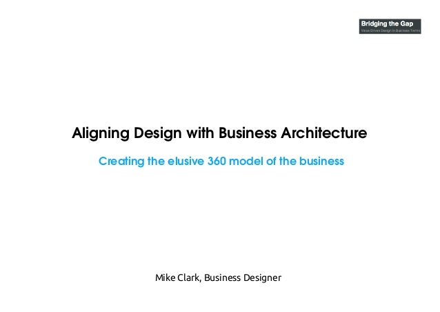 Aligning Design with Business Architecture Creating the elusive 360 model of the business Mike Clark, Business Designer