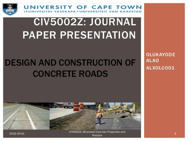 Design and construction of concrete roads