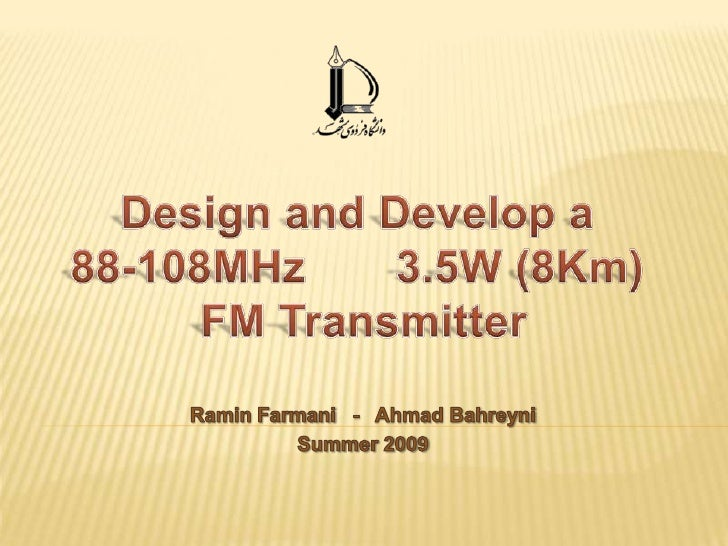 Design And Develop A 88-108MHz  3.5W FM Transmitter