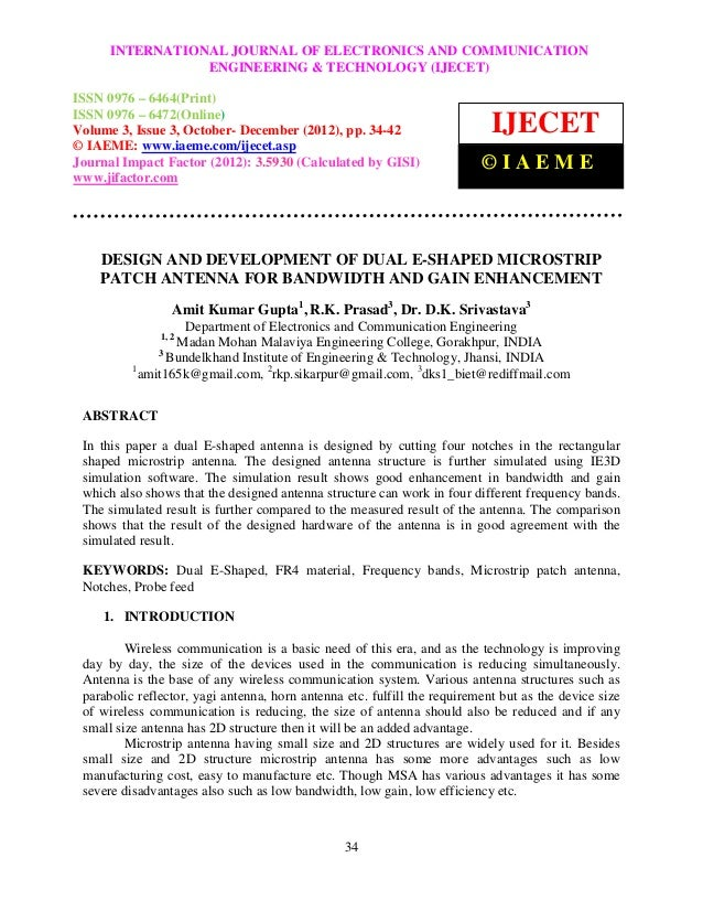 International Journal of Electronics and Communication EngineeringAND COMMUNICATION0976 –      INTERNATIONAL JOURNAL OF EL...