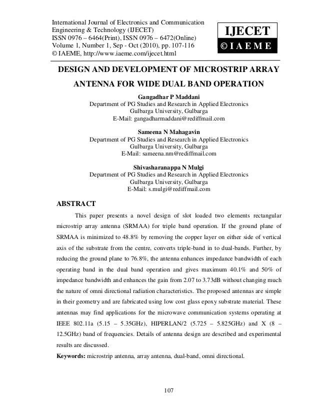 International Journal of Electronics and Communication Technology (IJECET),  International Journal of Electronics and Comm...