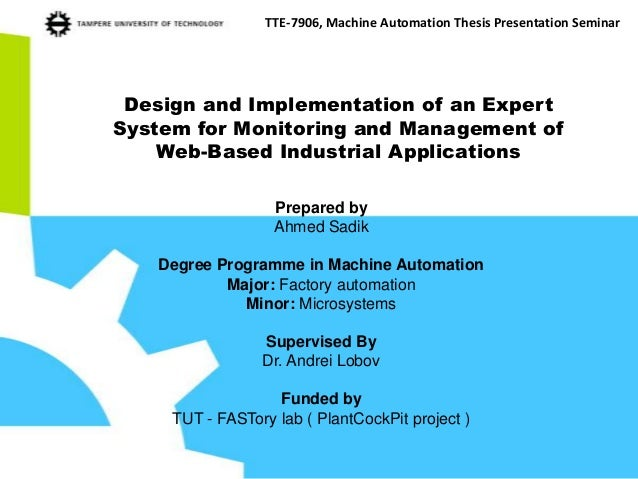 system implementation thesis The design and implementation of an e-commerce the system is implemented using this document will discuss each of.