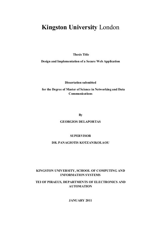 Master thesis in database security