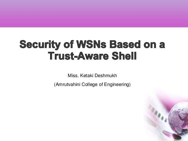 Miss. Ketaki Deshmukh(Amrutvahini College of Engineering)
