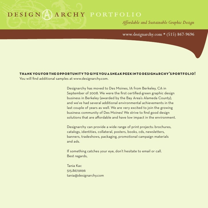 thank you for the opportunity to give you a sneak peek into designarchy's portfolio! You will find additional samples at w...