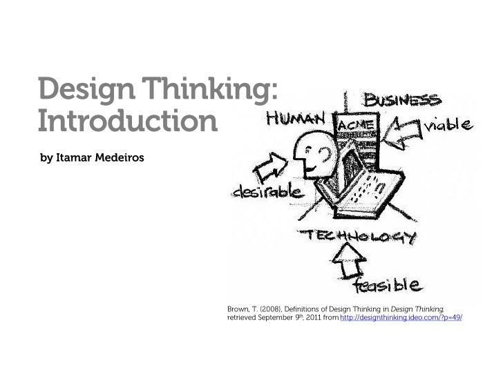 Design Thinking: Introduction