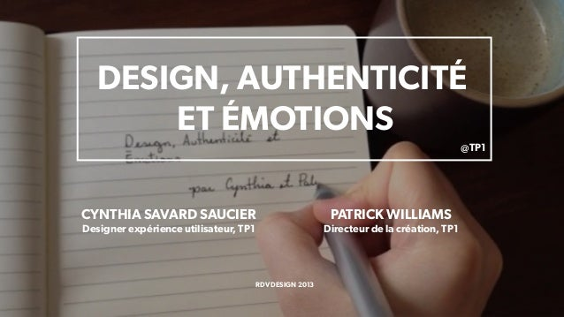 Design, authenticité et émotions