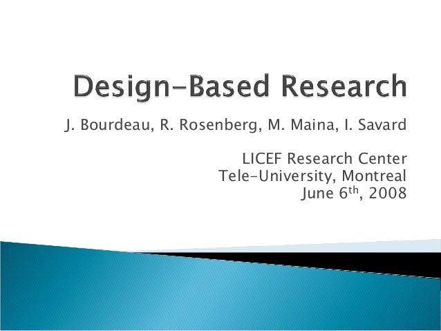 J. Bourdeau, R. Rosenberg, M. Maina, I. Savard                       LICEF Research Center                    Tele-Univers...