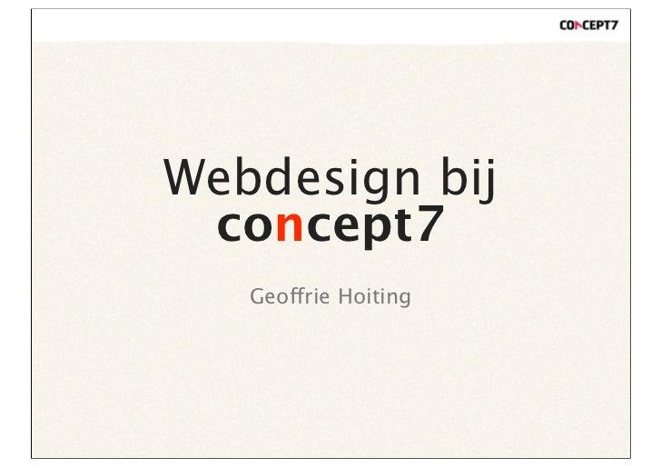 Webdesign bij concept7   Geoffrie Hoiting